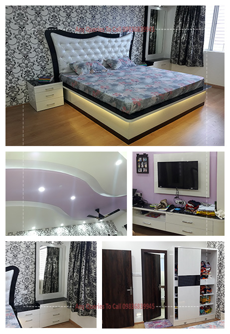 2 lakhs cost bedroom interior ideas kolkata