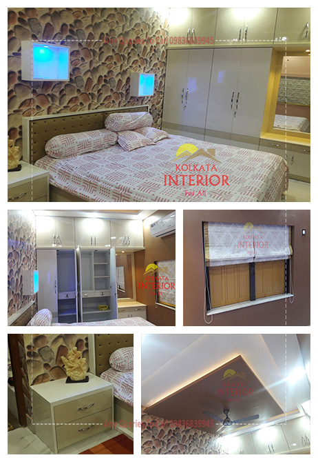 low cost bedroom interior kolkata