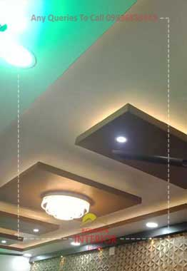 false ceiling cost for living room