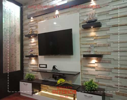1 Bhk Flat Interior Decoration Top Designer Kolkata Low Cost