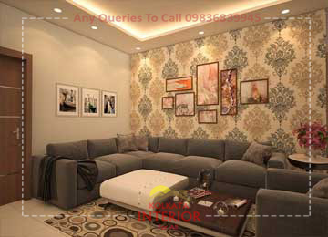 living room interior designer south kolkata