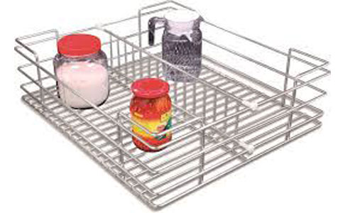 Modular Kitchen Stainless Steel Partition Basket Accessories Kolkata