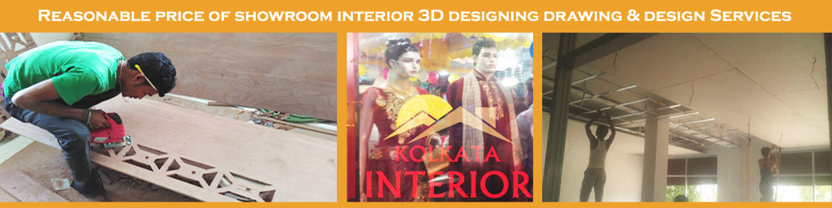 best price showroom interior decoration kolkata west bengal