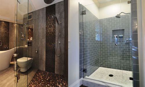 bathroom shower wall floor tile remodels ideas