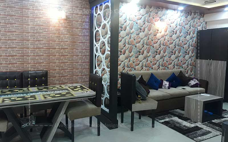3 Bhk Interior Design Decoration Ideas New Town Low Cost