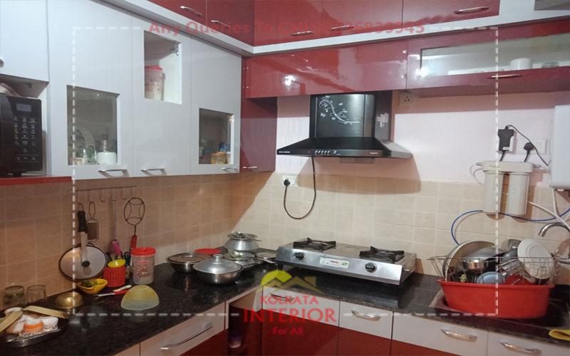 3 bhk interior kitchen cost garia kolkata