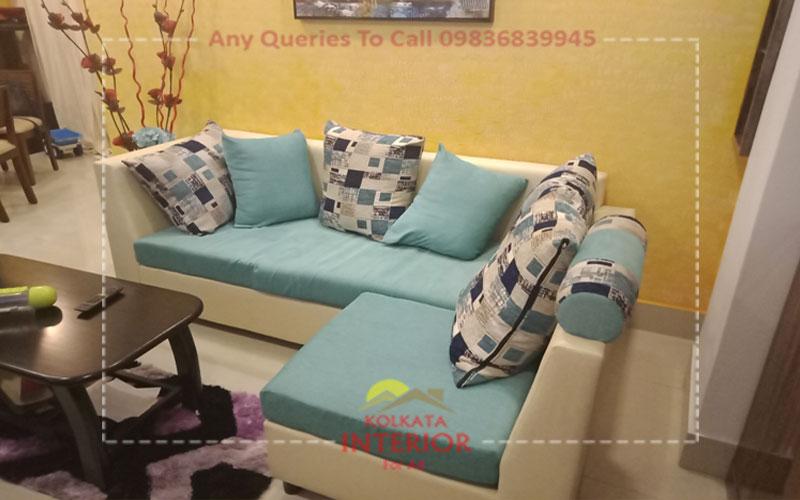 3 bhk interior low cost garia kolkata
