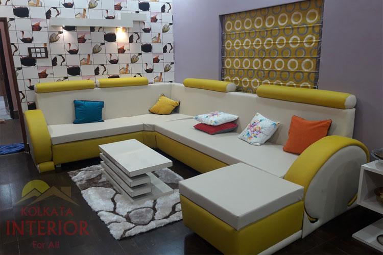 1 5 Lakhs Cost Living Room Interior Design Howrah Kadamtala