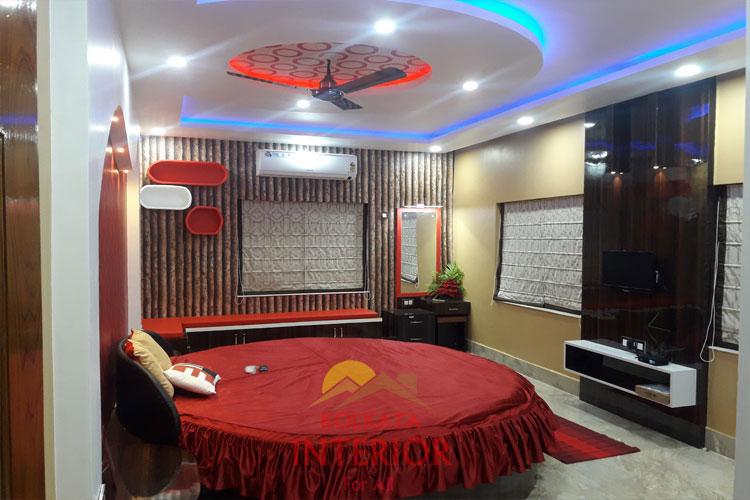 Charming 2 Bhk Flat Master Bedroom Interior Designing Ideas Howrah