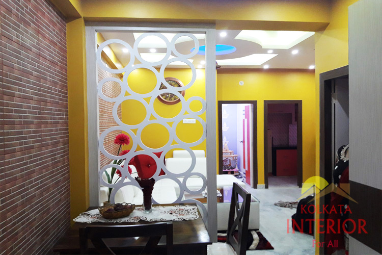 1 bhk flat living room decorations designers kolkata