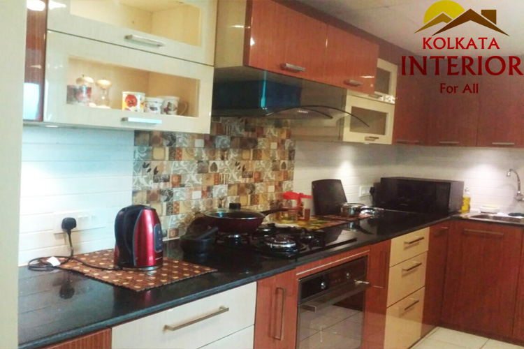 1 bhk flat modular kitchen cabinets decoration kolkata