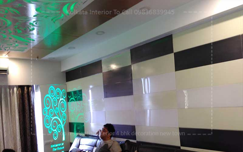 4 Bhk Flat Interior Design Decoration Ideas New Town Kolkata