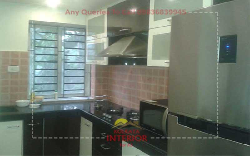 2bhk flat interior designing decorations designer ideas for Kitchen design kolkata